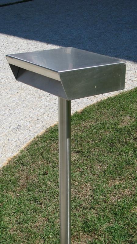 Caixa de Correio em Aço Inox Orçamento Tietê - Caixa de Correio em Inox com Pedestal