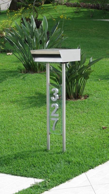 Caixa de Correio Inox Externa Itatiba - Caixa de Correio em Inox com Pedestal