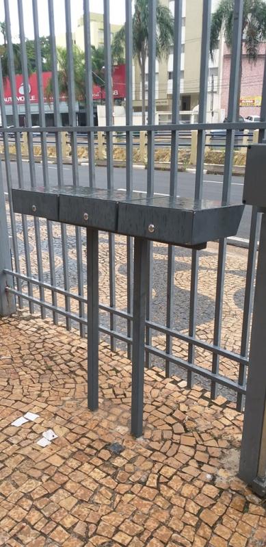 Caixas de Correio em Aço Inox para Entrada de Prédio Piedade - Caixa de Correio em Inox com Pedestal