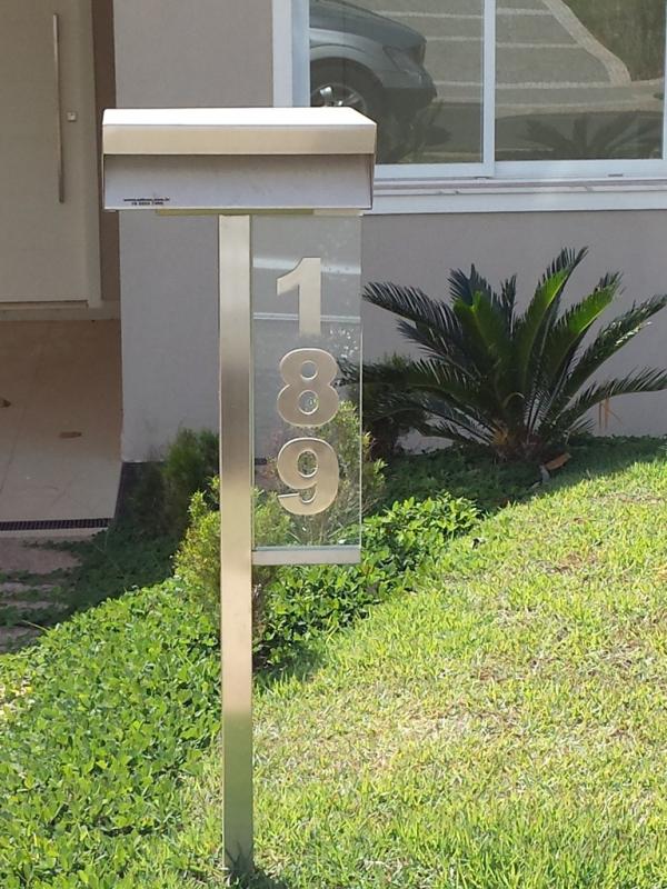 Caixas de Correio em Inox com Pedestal Itapetininga - Caixa de Correio em Inox com Pedestal