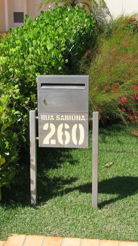 Caixas de Correio Inox com Abertura Frontal Osasco - Caixa de Correio em Inox com Pedestal