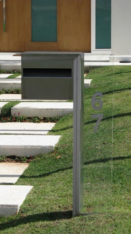 Caixas de Correio Inox Externa Itatiba - Caixa de Correio em Inox com Pedestal