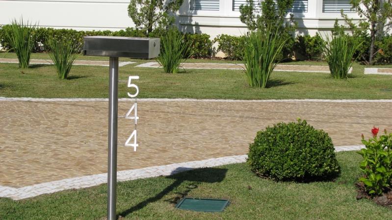Comprar Caixa Correio Inox com Número Tatuí - Caixa de Correio em Inox com Pedestal