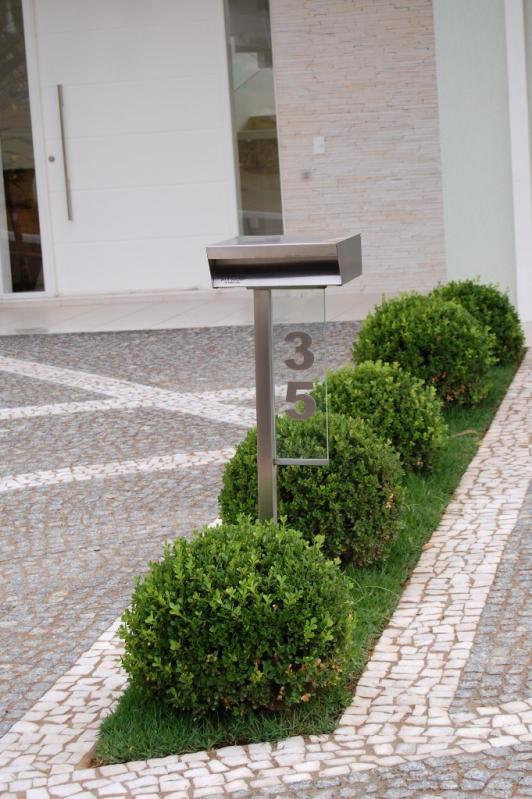 Comprar Caixa de Correio de Inox Pedreira - Caixa de Correio em Inox com Pedestal