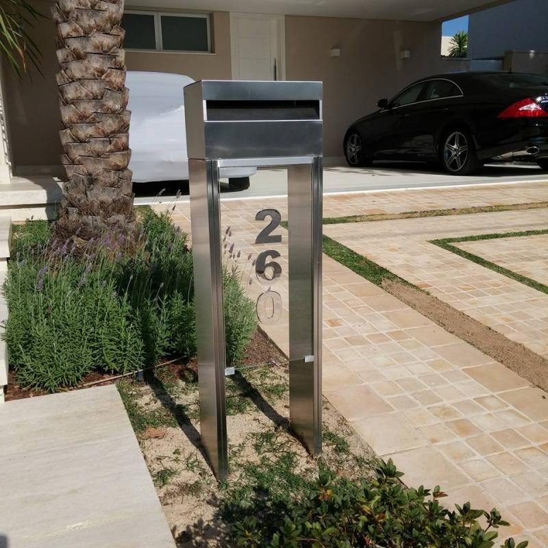 Comprar Caixa de Correio Inox com Vidro Itatiba - Caixa de Correio em Inox com Pedestal