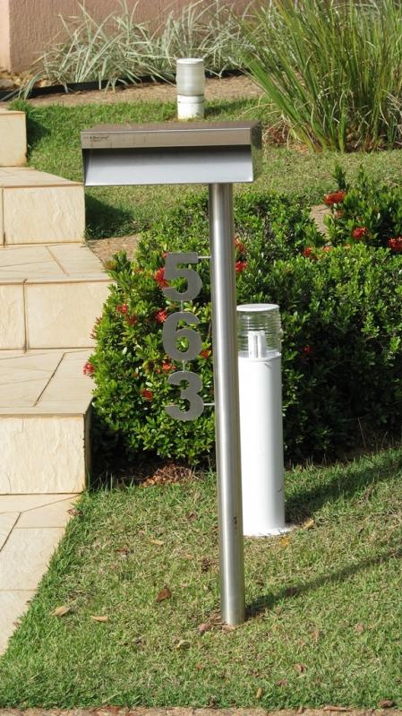 Comprar Caixa de Correio Inox Externa Sumaré - Caixa de Correio em Inox com Pedestal