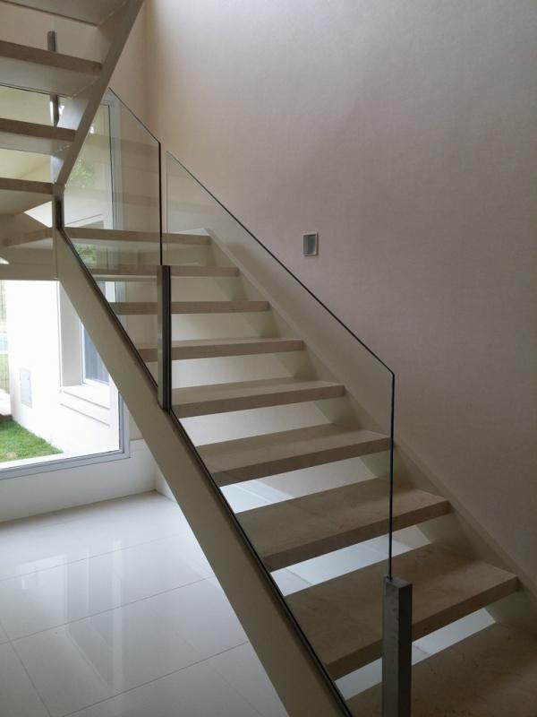 Fabricante de Corrimão em Inox para Escada Nova Odessa - Corrimão em Aço Inox Escovado