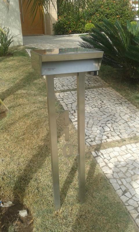 Quanto Custa Caixa Correio Inox com Número Cosmópolis - Caixa de Correio em Inox com Pedestal