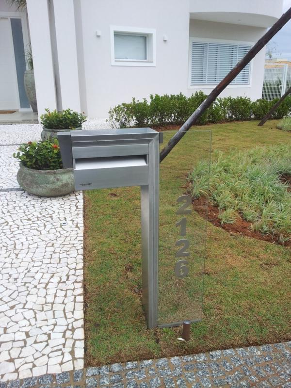 Quanto Custa Caixa de Correio Inox com Vidro Osasco - Caixa de Correio em Inox com Pedestal