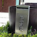 caixa de correio em aço inox para entrada de prédio Morungaba