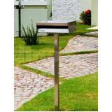 caixa de correio em inox com pedestal Holambra