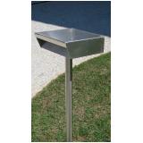 caixa de correio em aço inox