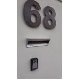 caixa de correio em inox para muro