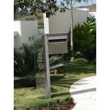 caixa de correio inox abertura frontal