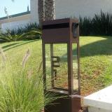 caixa de correio inox com vidro
