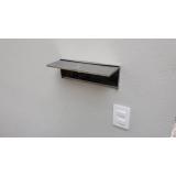 caixa de correio inox com abertura frontal São José do Rio Preto
