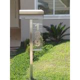 caixas de correio em inox com pedestal Cosmópolis