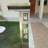 caixas de correio inox com vidro Mauá