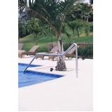 corrimão em aço inox para piscina valores Monte Mor