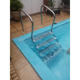 corrimão em aço inox para piscina São Roque