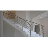 corrimão em inox para escada valor Capivari
