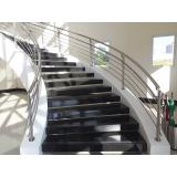 corrimão em inox para escada