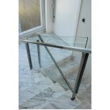 corrimão inox de escada