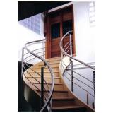 corrimão inox escada caracol