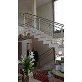 corrimão inox de escada valores Rio Claro