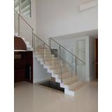 corrimão inox de escada Barueri