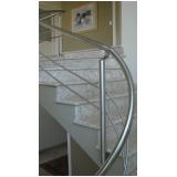 corrimão inox escada caracol Rio Claro