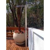 quanto custa ducha inox área externa Santana de Parnaíba
